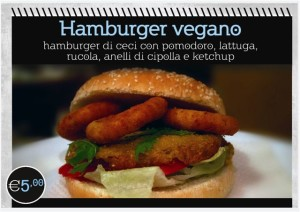 hamburger vegano panino